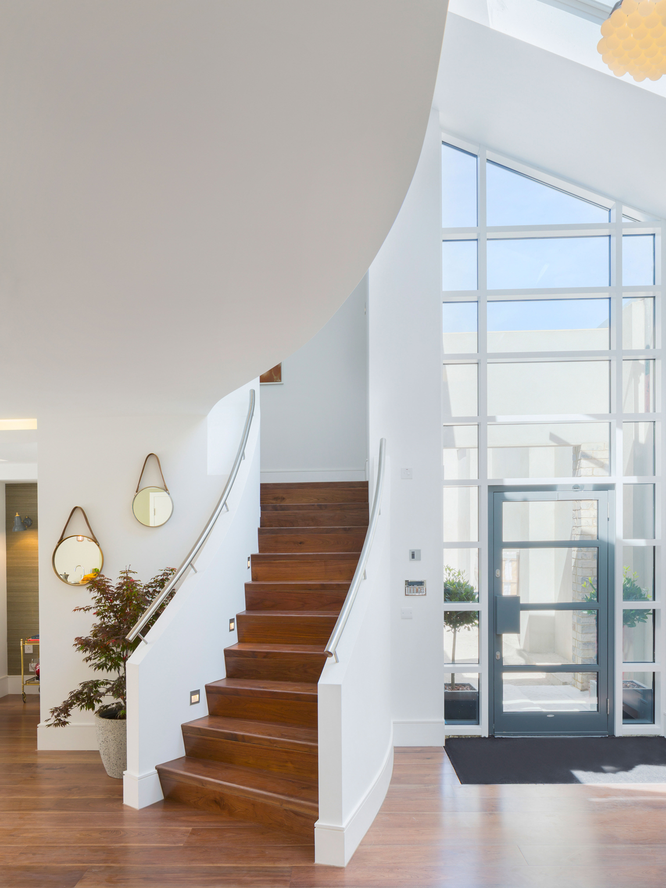 Verve Properties Sunlight Mews Fulham townhouse staircase oak flooring 85 Lamps by Droog